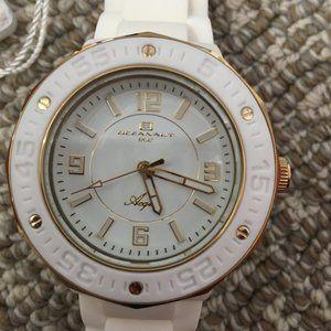 Oceanaut White & Gold Silicone Watch - N…
